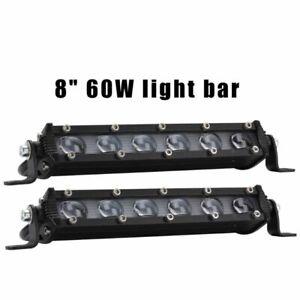 8-039-039-60W-SUV-Offroad-Faros-Antiniebla-Barra-de-luz-de-trabajo-LED-6000K-Spot-Beam