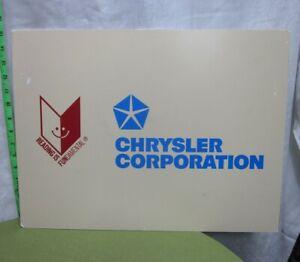 CHRYSLER CORPORATION wall sign Reading is Fundamental sponsorship 1990s
