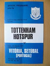 UEFA CUP Quarter Final 1973- TOTTENHAM HOTSPUR v VITORIA SETUBAL(PORTUGAL)7 Marc