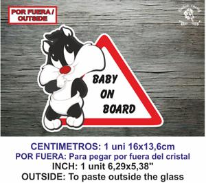 Sticker Vinilo Decal Vinyl Bebe a bordo LBB137 Bebes Baby por fuera Babies