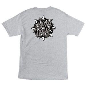 Santa Cruz MACE DOT Skateboard T Shirt ASH LARGE