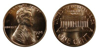 1990 P/&D Lincoln Memorial Cents Brilliant Gem Mint State Red From Old Rolls *HG