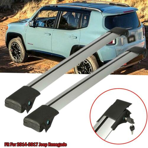 For 2014-2017 Jeep Renegade Roof Rack Crossbar Luggage Carrier W//Anti-Theft Lock