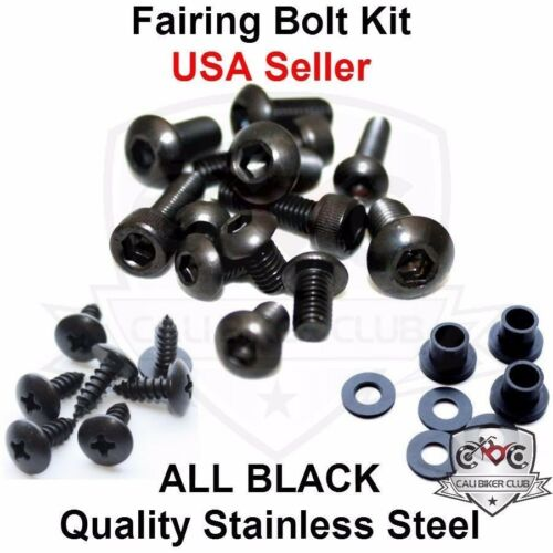 Black Fairing Bolt Kit Body Screws Fasteners for Yamaha YZF R6 2008-2015