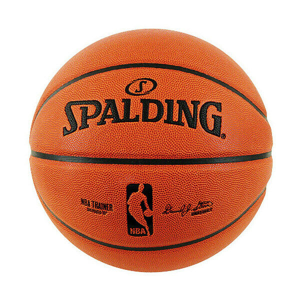 Spalding NBA Trainer Heavy Ball Double Weight Comp Leather Indoor Basketball