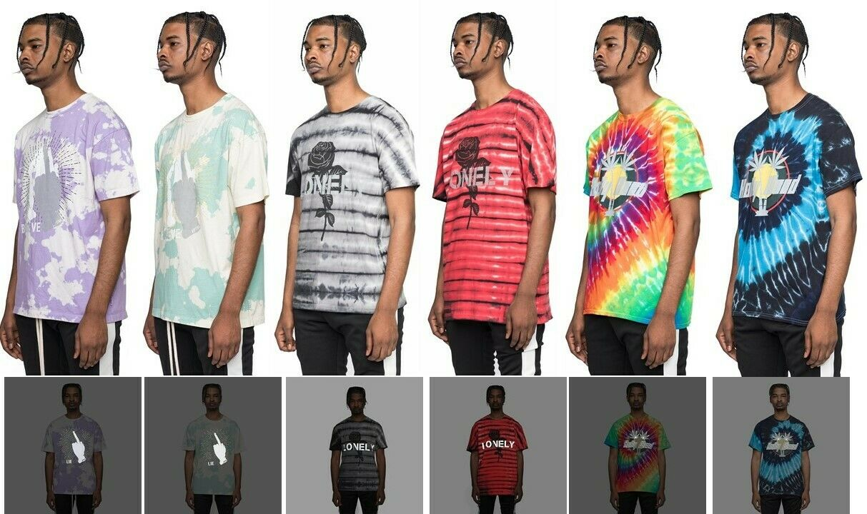 69376d297386fd EPTM. Men s Cotton Reflective 3M Tie Dye Graphic T-Shirt Tee s