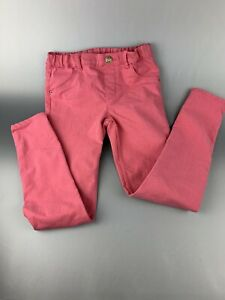 H & M Faded Pink Skinny Jeans Girls Size 9-10 Adjustable Elastic Waist