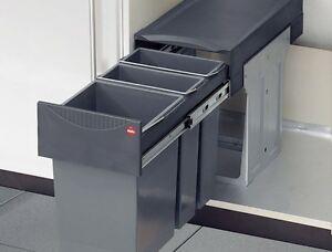 Hailo Tandem 15 + 2 x 7 Liter Einbau Mülleimer Küche | eBay