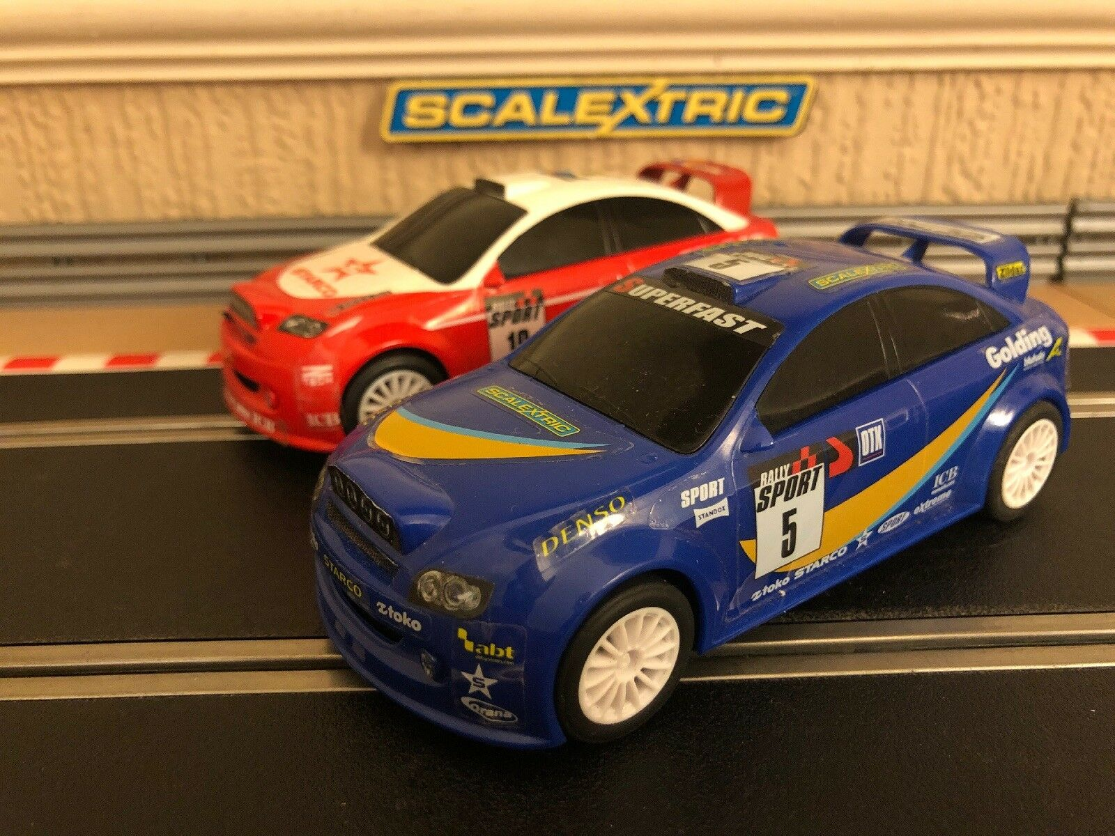 Scalextric Rally Cars x2 All Fully Serviced & New Braids Fitted VGC
