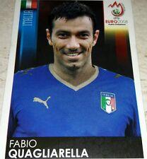 FIGURINA CALCIATORI PANINI EURO 2008 ITALIA QUAGLIARELLA ALBUM