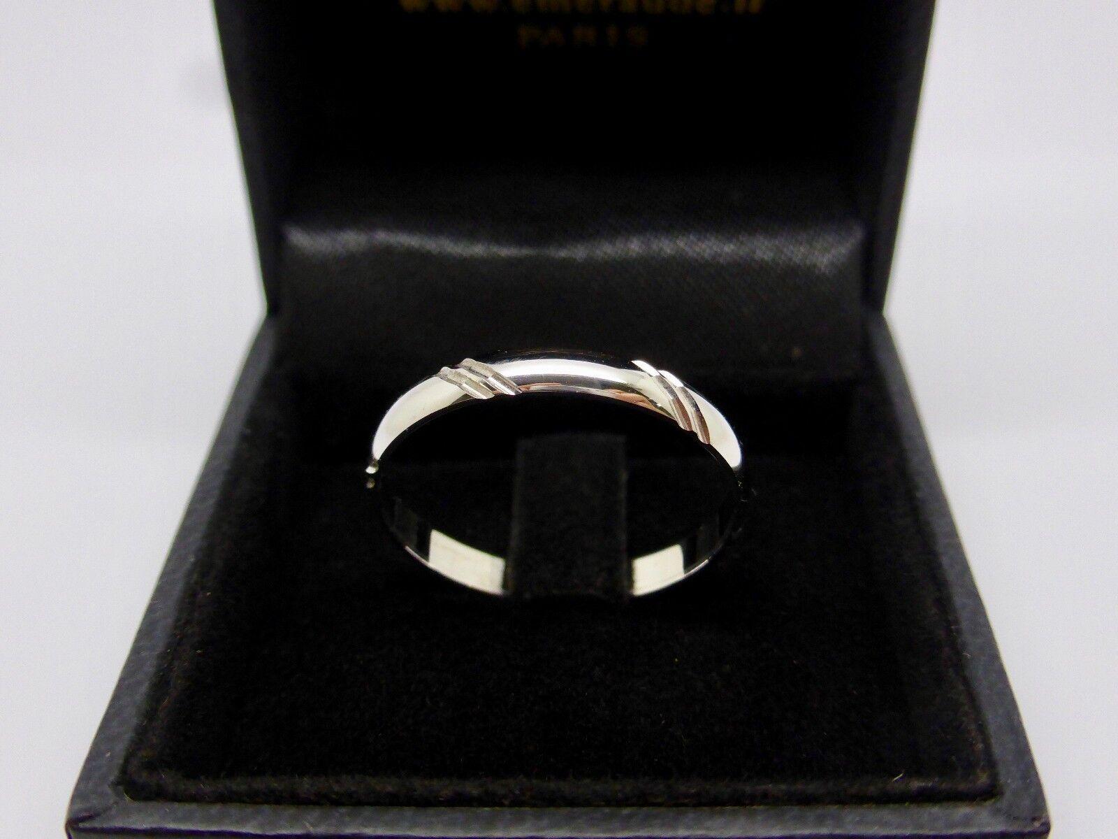 WEDDING RING FANTASY gold WHITE 18K 750 000 0 1 8in 0.0829oz T63 B54659