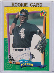 Details About Michael Jordan Fun Pack White Sox Rookie Card Baseball Rc Upper Deck Le