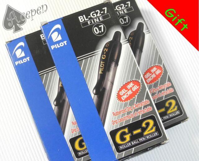 Free Gift 36pcs Pilot BL-G2-7 0.7mm fine roller ball pen Gel Type ink BLACK ink