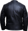 Hommes-David-Beckham-Veritable-Mouton-Veste-Cuir-Noir-Motard-Vintage-Slim-Fit-S miniature 2