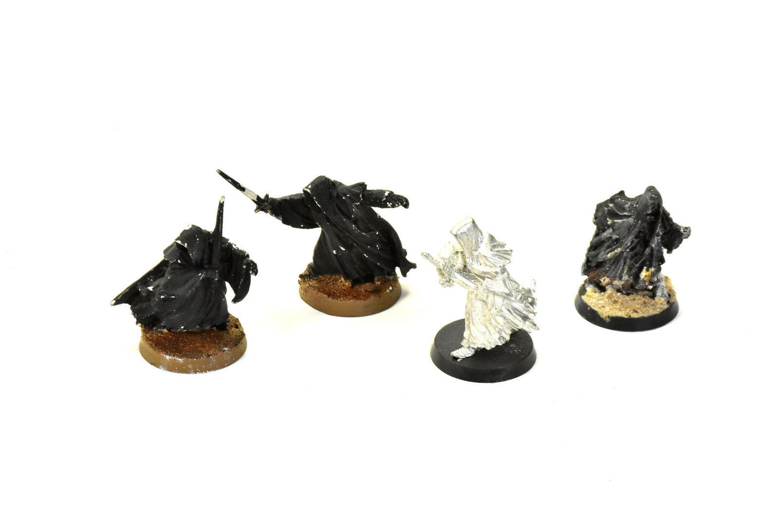 LOTR witch king on foot & 3 ringwraith METAL Games Workshop