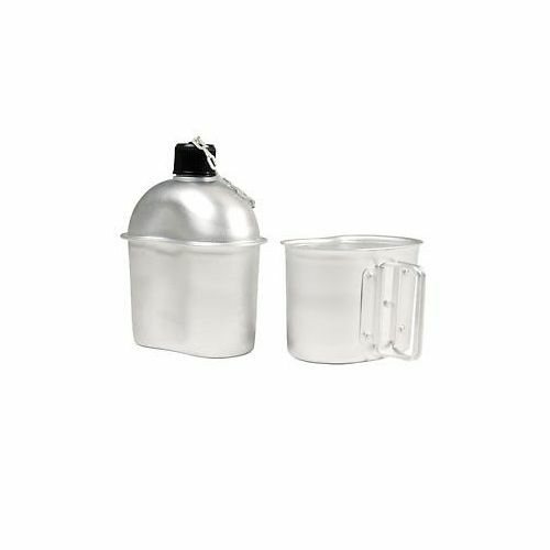 U.S Army M1910 WWII Aluminum Canteen & Cup Patton (A-121)