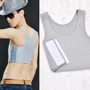 Lesbian-Tomboy-Nightwear-Breathable-Short-Chest-Breast-Binder-Buckle-Corsets-Hot