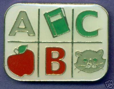ABC Childrens Teaching Reading  Metal Enamel Pin Badge