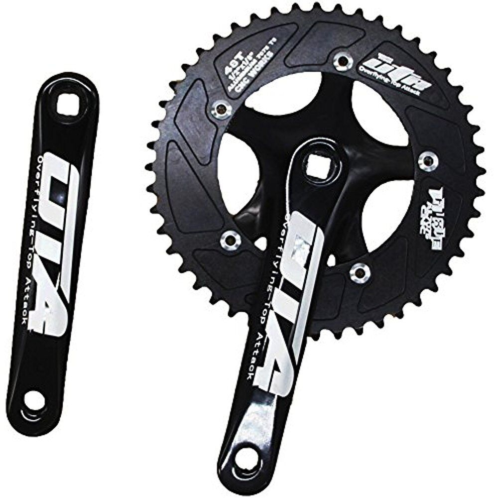 Single Speed Crankset Set 48T 170mm Crankarms 130 BCD Fixie For Bike Fixed Gear