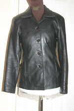 DPL Womens BLACK Lambskin REAL LEATHER JACKET uk10 us8 eu38 Chest c36ins c91cms