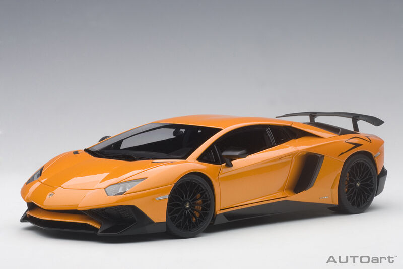 1 18 Autoart - Lamborghini Aventador Lp750-4 Sv (Arancio Atlas