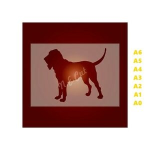 BLOOD-HOUND-Dog-Stencil-Strong-350-micron-Mylar-not-Hobby-stuff-DOGS044