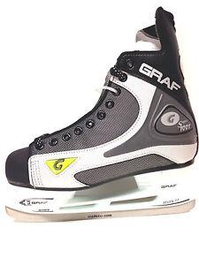 GRAF-1001-101-Eishockey-Schlittschuhe-Gr-42-schwarz