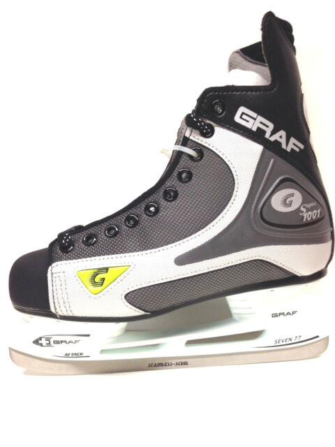 GRAF 1001 / 101 Eishockey Schlittschuhe Gr. 42 schwarz