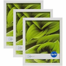 Mainstays Linear 8x10 Frames, White, 3-Pack