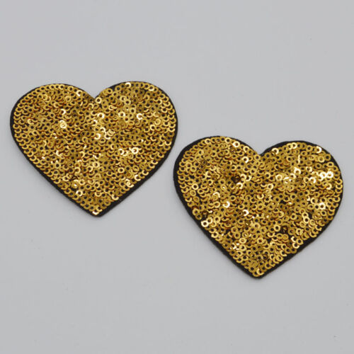 Love golden Embroidery Iron on patch sewn For clothing applique backpack Motif