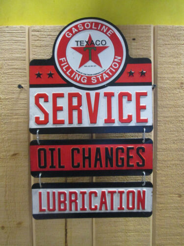 TEXACO Hanging Service Oil Lube Display The Texas Company Gas  Oil Pump Station