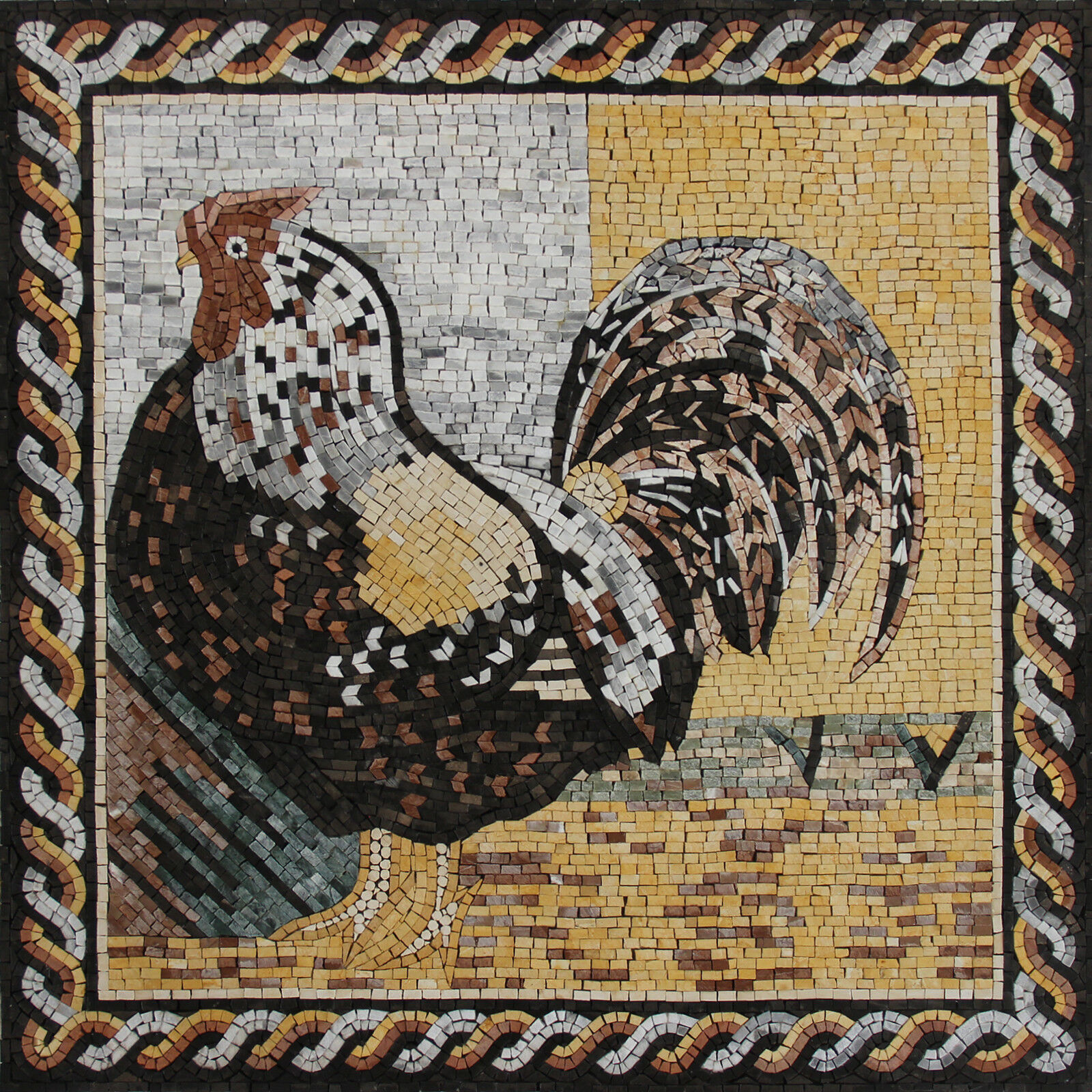 Majestic rooster Mosaic 31''X31