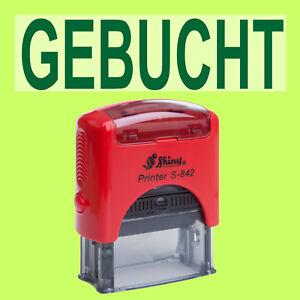 BEZAHLT Shiny Printer Rot S-842 Büro Stempel Kissen Grün