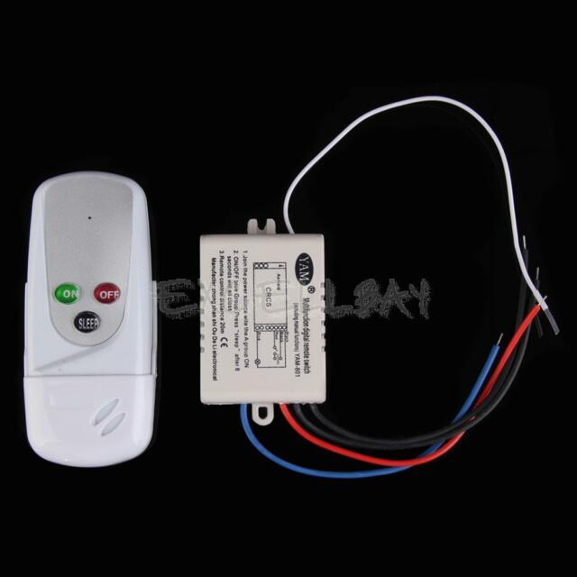 1 Way Port 200V-240V Light Digital Wireless Wall Remote Control Switch E0Xc