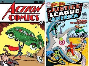 Set of Action Comics #1 1938 Superman DC Reprint Loot Crate & Brave & Bold # 28