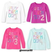 1st 2nd 3rd 4th it's My Birthday Girls Shirt 12-18 Months 2t 3t 4t 5t Gift