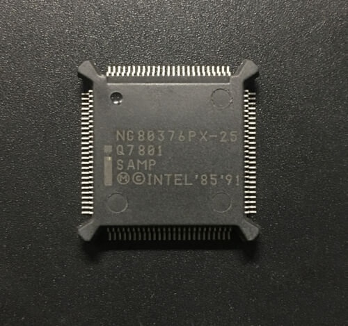 RARE Intel NG80376PX-25 Q7801 SAMP ES Engineering Sample QFP100 25MHz Embedded