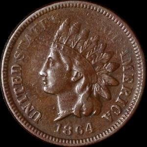 1864-039-L-039-Indian-Cent-F-VF-Details-Decent-Eye-Appeal-Nice-Strike