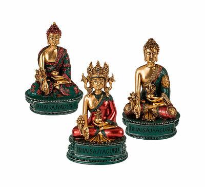 Bhaisajyaguru Buddha 8x13,5cm Statue Meditation Feng Shui Figur Medizinbuddha Weniger Teuer