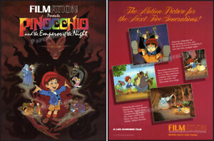 PINOCCHIO and the EMPEROR OF THE NIGHT__Orig. 1986 Trade AD / poster__FILMATION