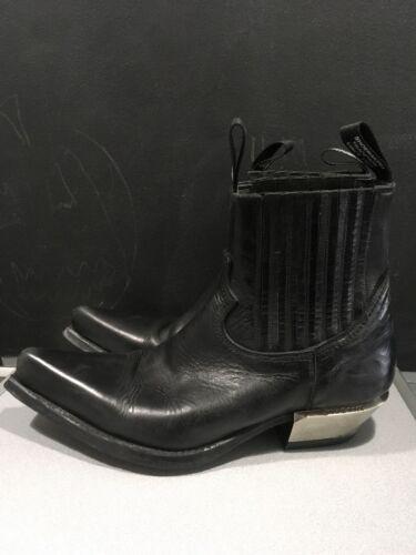 New Rock Mens Ankle Boots West Black M-7953- C1 Si