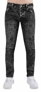 Jeans-De-Hombre-Talla-Plus-pierna-recta-Denim-Pantalones-estirados-con-cremallera-tamano-de-42-a-54
