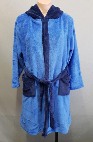 BNIP Boys Size 10 Under Cover Crew Fluffy Royal Blue Warm Hood Dressing Gown