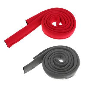 Neoprene 1.2m Hydration Pack Drink Tube Cover Sleeve for Water Bladder Red