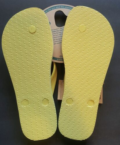 Gurus Womens Natural Rubber Flip Flops Sustainable Sandals See Description