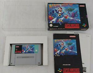 Mega Man X en OVP con instrucciones-juego para Super Nintendo SNES/PAL