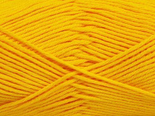 Sport Weight 50Gram 153 Yards Canary Yellow Cotton Bamboo Yarn Ice #41444 Baby