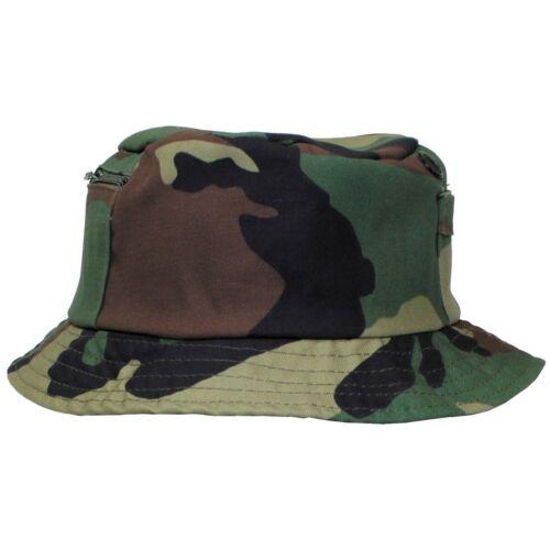Cappello cuffia da pesca bosco MF 10653T piccola tasca laterale