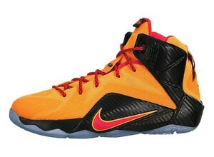Nike LeBron XII 12 GS Witness Basketball Youth US 7 Orange Crimson $160 NEW