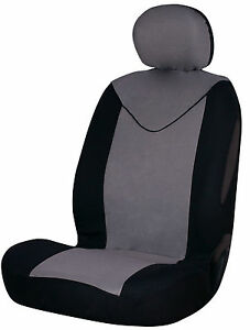 Sumex-Unicorn-Universal-Single-Padded-Foam-Front-Car-Seat-Cover-in-Grey-amp-Black